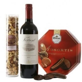 White Hug Around 30 Cm Red I Love You Heart (White hug with red I Love You heart + fresh red rose on water)