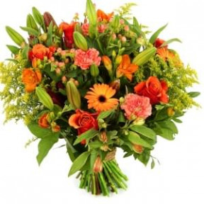Orange bouquet Spring Starry style (Medium)