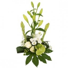 White Flower Arrangement Modern Look (Small)