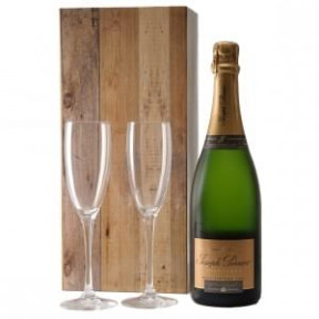 Joseph Perrier Brut 2004 And 2 Champagne Glasses (Medium)