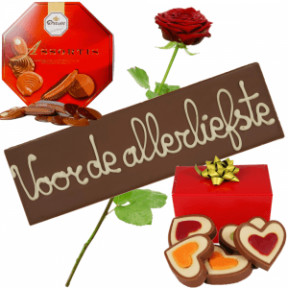 Choco Love Package + Fresh Red Rose (Medium)