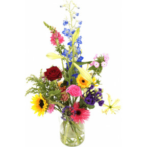Plucked Seasonal Bouquet Incl. Milk Canister (Small)