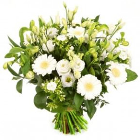 Stylish White Flowers Bouquet (Medium)