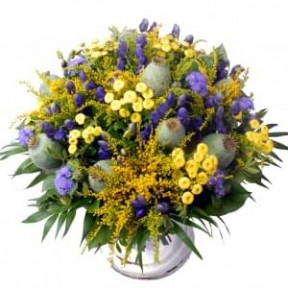 Bouquet Abroad Yellow Purple (Small)