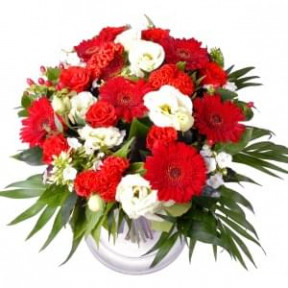 Bouquet Abroad Red - White (Small)