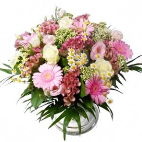 Bouquet Abroad Pink - White (Small)