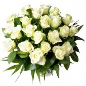 Bouquet Of White Roses Abroad (Small)
