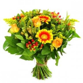 Well done bouquet of yellow orange (Medium)