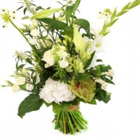 Plucked Bouquet White High - Low Suitable (Medium)