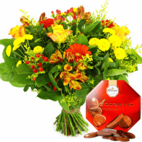 Father'S Day Flower Incl. Droste Chocolate (Medium)