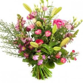 Plucked Pink Bouquet. High Low Fit (Medium)
