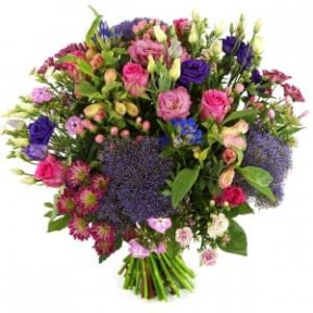 Bouquet Of Fresh Flowers Purple - Pink (Small)