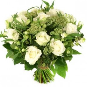 White Roses And 3 Types Of Flowers (Medium)