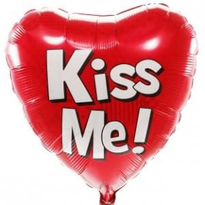 Kiss Me Helium Balloon + Weight (Medium)