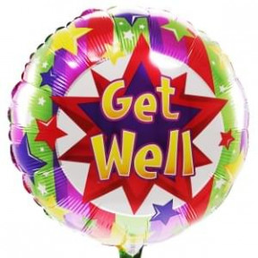 Get Well / Get Well Helium Balloon (Medium)
