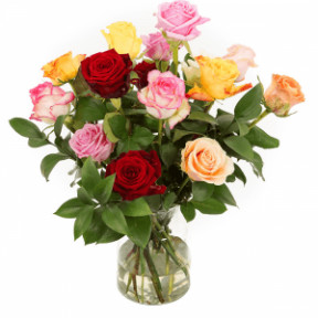 Mixed Roses Incl. Milk Canister (Large)