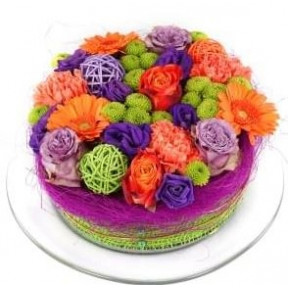 Bouquet Gift flowers cake (Small)