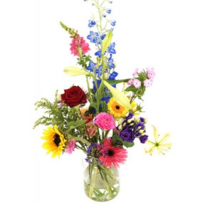 Seasonal Picking Of Flowers Incl. Milk Can Vase (small)