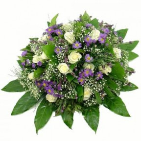 Funeral Arrangement Of Blue - White Flowers (Standard)