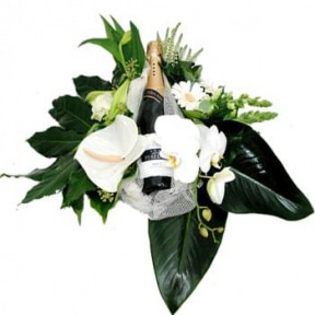 Flower Arrangement With A Bottle Cava