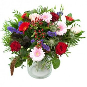 Beautiful Autumn Bouquet Red/Pink/Lilac (Standard)