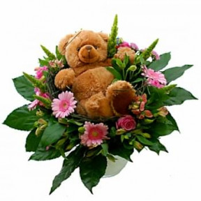 Toy Bouquet Girl With Brown Bear (Standard)
