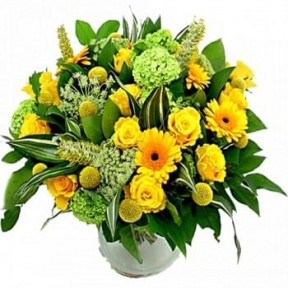Bouquet Of Yellow And White Flowers (Standard)