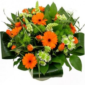 Bouquet Of Orange And White Flowers (Standard)