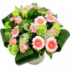 Bouquet Of Pink And White Flowers (Standard)