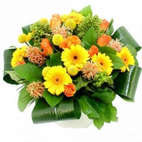 Bouquet Of Orange And Yellow Flowers (Standard)