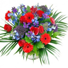 Bouquet Purple - Red (Standard)