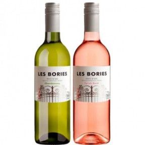 Les Bories Duo Chardonnay And Syrah Rose