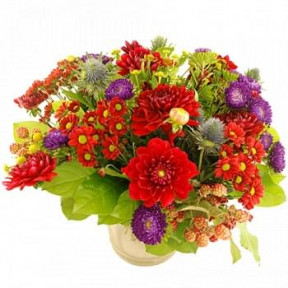 Beautiful Autumn Bouquet Red-Purple (Standard)