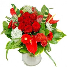 Bouquet Of Red Luxury Flowers (Standard)