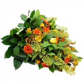 Orange - Yellow Funeral Bouquet (Standard)