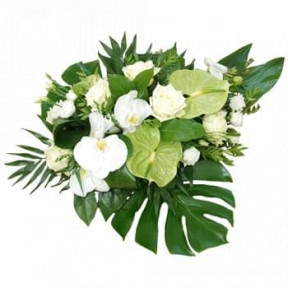 Funeral Arrangement Of White Flowers (Standard)