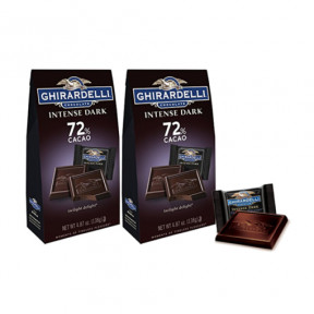 Ghirardelli Intense Dark Twilight Delight 72% Cacao 4.87oz x 2 pcs