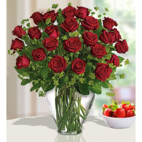 Sweetness And Light (24 Red Roses)