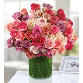 Feminine And Fabulous (60 Mixed Color Roses)