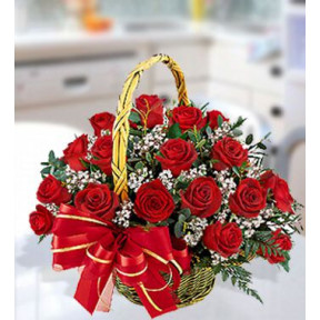 Magical Basket (30 Red Roses)