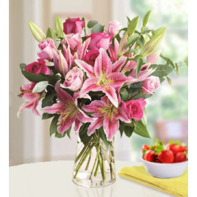 Passionate Pink (21 Pink Lilies , 18 Pink Rose)