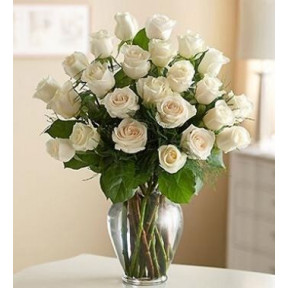 Joyful Bouquet (24 White Roses)