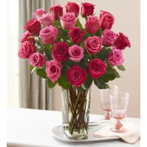 Beautiful Choice (12 Pink And  12 Red Roses)