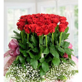 Touch Of Heart (72 Red Roses)