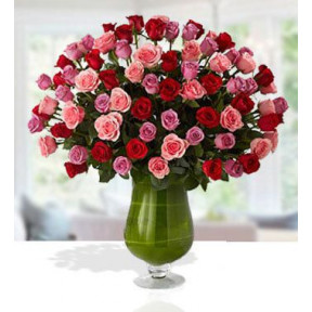 Premium Bouquet (48 Pink , 48 Red  And 48 Purple Rose)