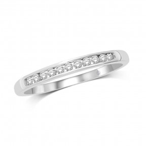 10K White Gold 0.20 Ct.Tw. Diamond Band Ring
