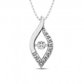 Sterling Silver 0.05 Ct.Tw. Moving Diamond Fashion Pendant 1
