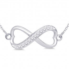 Sterling Silver 0.1 Ct.Tw. Diamond Infinity Pendant