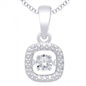 Sterling Silver 0.05 Ct.Tw.Moving Diamond Fashion Pendant 1