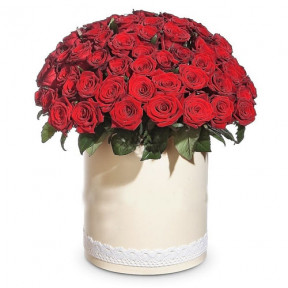 51 Red Roses In Box